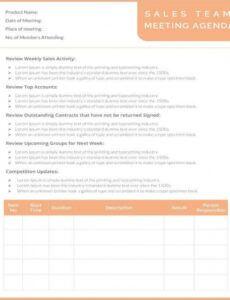 free 51 meeting agenda templates  pdf doc  free  premium team meeting agenda template