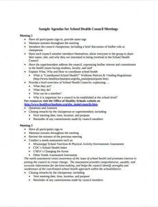 free 7 sample school agenda templates in pdf  ms word school board meeting agenda template