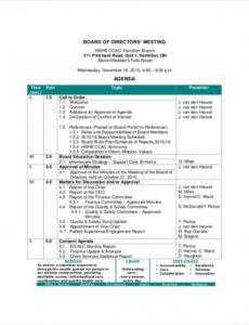 free board of directors meeting agenda template  8 free word school board meeting agenda template sample