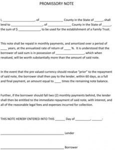 free legal promissory note template  tutore  master commercial promissory note template example