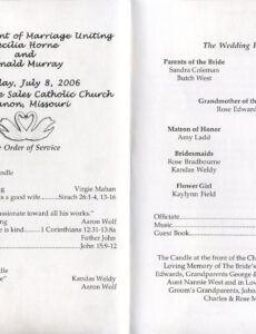 free wedding reception program template ~ addictionary wedding reception agenda template word