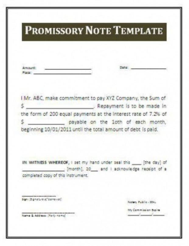 hospital note for work template convertible promissory note template excel