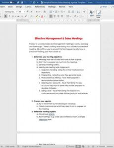 printable the secrets to amping up your sales meetings incl agenda sales meeting agenda template word excel