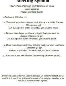 sample bluehost  meeting agenda meeting agenda template team meeting agenda template example