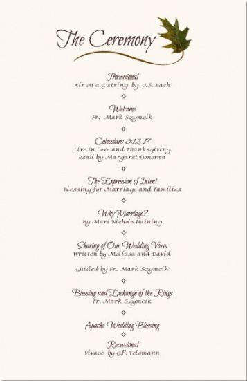 wedding reception program sample  service  wedding wedding reception agenda template example